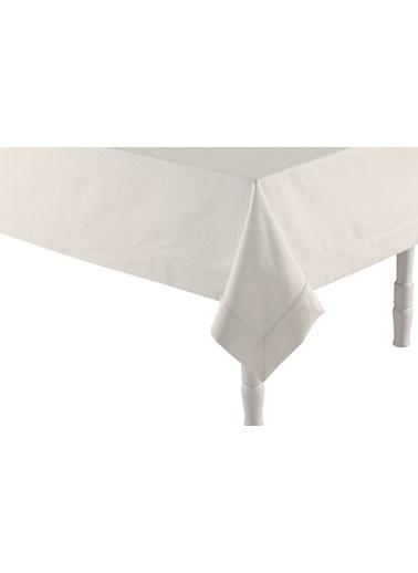 Bella Maison Beyaz Masa Örtüsü (160x160 cm) Beyaz